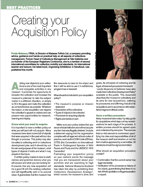 Creating your Acquisition Policy by Freda Matassa