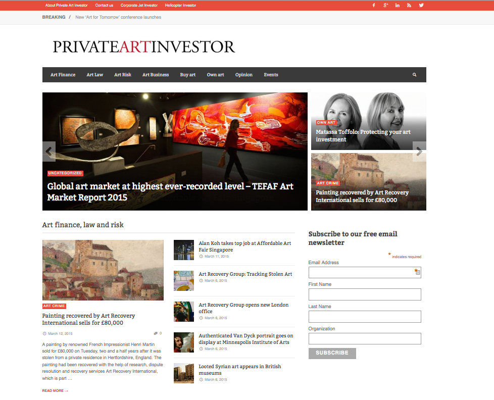 Matassa Toffolo on Private Art Investor homepage