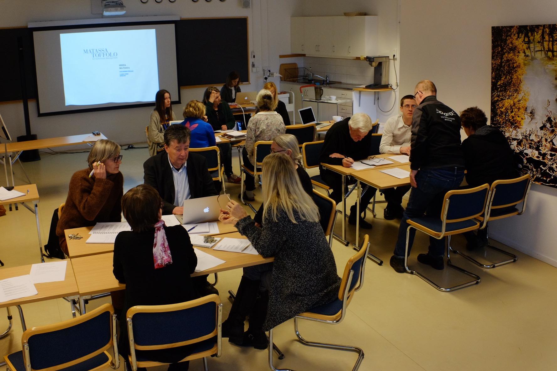 Matassa Toffolo workshop at Västerbottens Museum